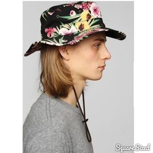 OBEY Floral Boonts Fisherman Bucket Hat Lthr Pull